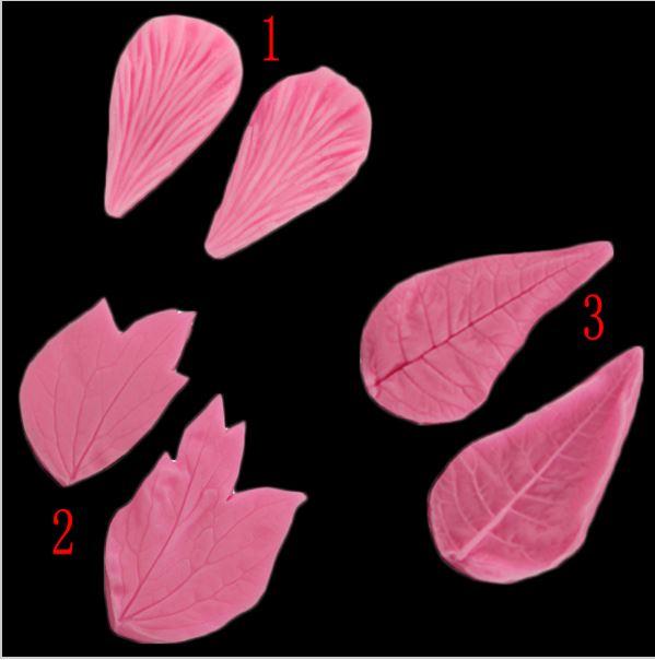 Набор молдов листья и лепесток ~ 60 руб