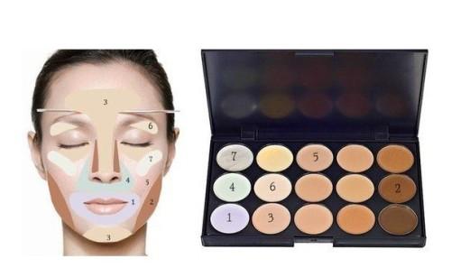 Палетка из 15 корректоров для макияжа ~ 120 руб