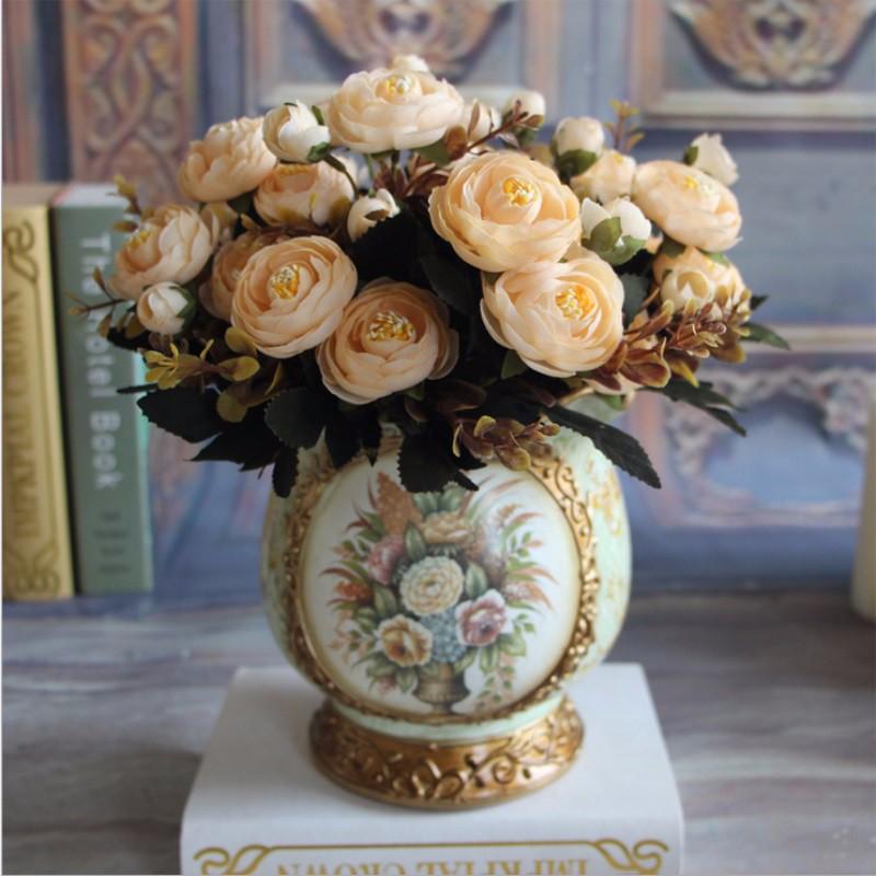Шелковые чайные розы ~ 115 руб