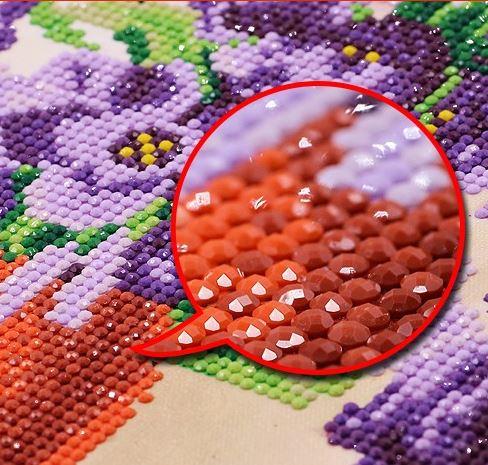 Алмазная вышивка букет ~ 1400 руб